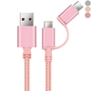 3 in 1 8-Pin & Micro USB & Type-C 1M Nylon Data/Charge Cable