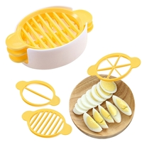 Other Devices  - 3 in 1 Cut Multifunction Kitchen Egg Slicer Sectioner Cutter Mold