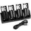 4 in 1 Charging Station + 4 Battery Packs for Nintendo Wii