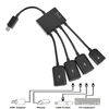 4 in 1 Micro USB Power Charging Host 4-Port OTG Hub Adapter Cable