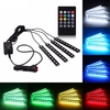 4 in 1 Voice Controller Car Interior LED Strip Light Atmosphere Lamp