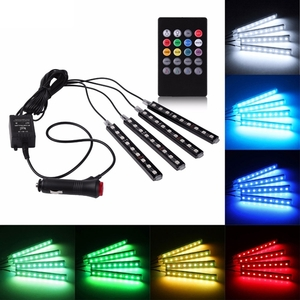 Car Accessories  - 4 in 1 Voice Controller Car Interior LED Strip Light Atmosphere Lamp