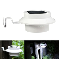Lamps & Lights  - 4 LED Solar Powered Garden Wall Yard Fence Light Gutter Security Lamp