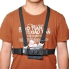 A Type Double Shoulder Belt Strap with J Type Base for GoPro Xiaomi Yi