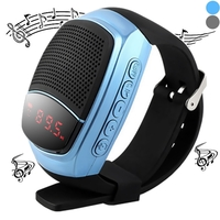 Speakers  - B90 Smart Bluetooth Watch Speaker Hands-free Call Self-timer f Phone