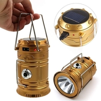 Torches  - Camping Collapsible Rechargeable Solar Lights for Outdoors