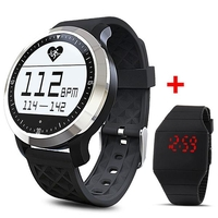 Special Watches & Measuring Devices  - F69 Smart Watch IP68 Heart Rate Monitor + LED Digital Wristwatch