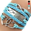Fashion Handmade Leather Bracelet Heart & Leather Bracelet