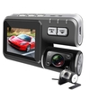 i1000 HD 1080P Dual Lens Camcorder Car DVR Dash Cam Black Box