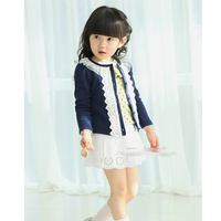 Low Shoes  - Lace Collar Patchwork Cotton Casual Coat  for Kids Girls