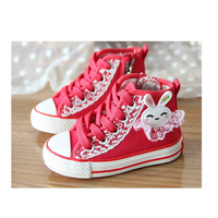 Low Shoes  - Lace Decorated Casual Canvas Shoes for Kids Children Girls