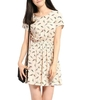 Summer Casual Bird Print Tunic Crewneck Mini Sleeveless Dresses