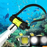 Accessories  - T6 1200LM LED Headlight Waterproof Underwater Diving Flashlight