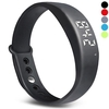 W5 LED 3D Pedometer Smart Band Silent Alarm Thermometer Bracelet