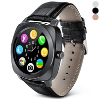 Special Watches & Measuring Devices  - X3 Leather Band Smart Watch Phone Full Circle Dialer Sleep Monitor