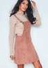 Alita Camel Suede Pinafore Dress