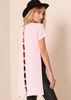 Bella Baby Pink Caged Back Detail Longline Top