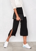 Cici Black Side Split Culottes