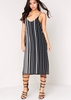 Faye Black Slip On Strap Dress