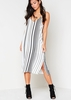Faye White Slip On Strap Dress