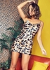 Gabby Leopard Print Satin Cami Mini Dress