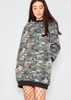 Hadley Camo Oversized Jumper Dress