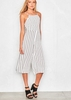 Kimana White Stripped Culotte Jumpsuit