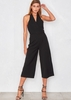Marilyn Black Halter Neck Culottes Jumpsuit