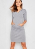 Nada Grey Jersey Pocket Hoodie Dress