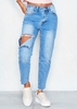 Shelby Denim Ripped Knee Frayed Hem Jeans