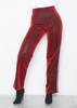Shelby Red Glitter Stripe Trousers