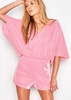 Sienna Pink Batwing Open Back Playsuit