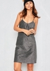 Valarie Silver Glitter Mini Slip Dress