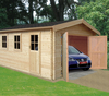Garden Houses & Buildings 4.19m x 5.09m Log Cabin - 44mm Tongue and Groove Logs