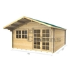 Garden Houses & Buildings 4m x 5m Log Cabin (2061) - Double Glazing (70mm Wall Thickness)