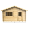 Garden Houses & Buildings 4m x 5m Log Cabin (2068) - Double Glazing (34mm Wall Thickness)
