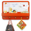Furniture Sets Magnetic Children's Notice Board with a Red Border By Tidy Books