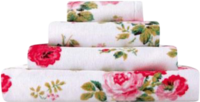 Slippers & Clogs  - Cath Kidston Antique Rose Bouquet White Towel Bath Sheet