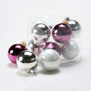 Christmas Tree Decoration  - 10 Vintage Glass Baubles
