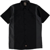 Casual Shirts DICKIES TWO TONE WORK SHIRT BLACK CHARCOAL