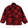 Men's FILSON ORIGINAL DOUBLE MACKINAW CRUISER JACKET RED BLACK PLAID ALASKA FIT