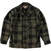 Men's FILSON ORIGINAL MACK WOOL CRUISER OTTER GREEN BLACK PLAID SEATTLE FIT