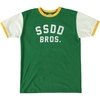 Short Sleeve FUCT SSDD SSDD BROS. RINGER TEE GREEN YELLOW