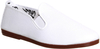 Flossy Arnedo Unisex Classic Plimsoll Shoes White
