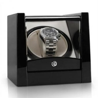 Watch Cases  - 8PT1S One Watch Winder Display Box - Piano Black