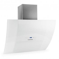 Smoke Hoods & Extractors  - RGL90WH Motorised Extractor Fan 90cm 550m³/h Glass White