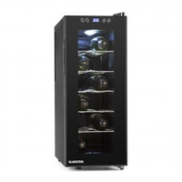 Wine Coolers  - Vinamora Wine Cooler 35 Liter 12 Bottles LED Touch Black