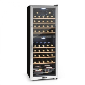 Wine Coolers  - Vinamour 54D wine refridgerator 2 zones 148 l 54 bottles stainless steel front