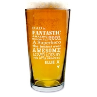 Gifts for Men  - Personalised He is...Pint Glass