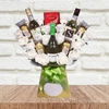 Anniversary White Wine and Roses Chocolate Bouquet